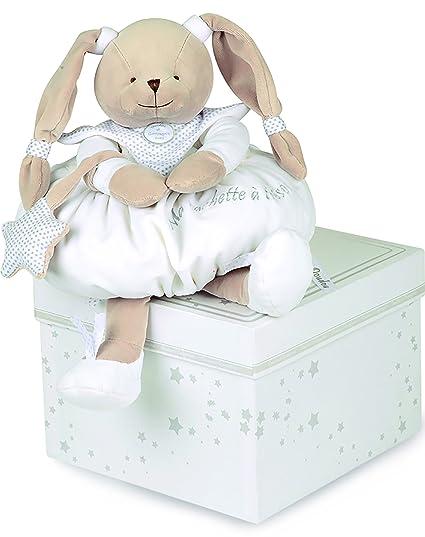 Doudou et Compagnie DC2402 - Conejo de peluche para guardar el pijama, color azul