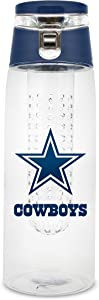 NFL Dallas Cowboys 20oz Plastic Infuser Sport Bottle