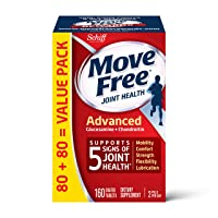 Glucosamine & Chondroitin Advanced Joint Health Supplement Tablets, Move Free (160...