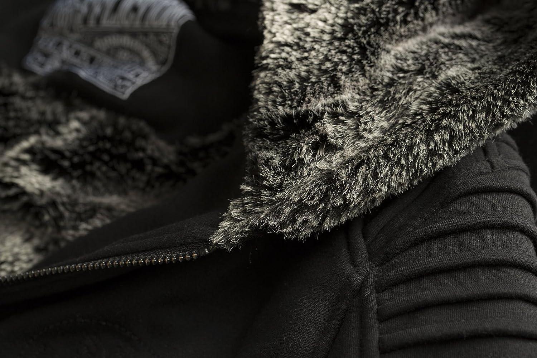 Black Lava Long Sleeve Fashion Women`s Zip Hood Jacket By Affliction