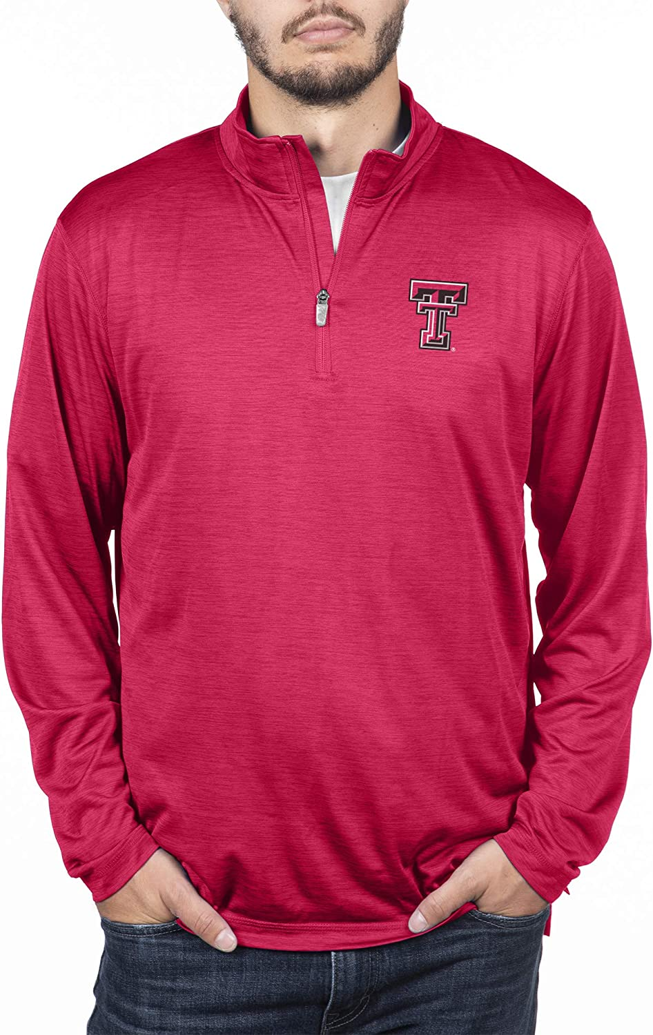 Top of the World NCAA Mens Team Color Space Dyed Poly Quarter Zip Pullover