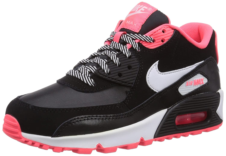 Nike Air Max 90 2007 345017 064 Mädchen Laufschuhe, Schwarz