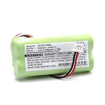 vhbw NiMH batería 700mAh (2.4V) para Auriculares inalámbricos Cascos como Plantronics 80639-