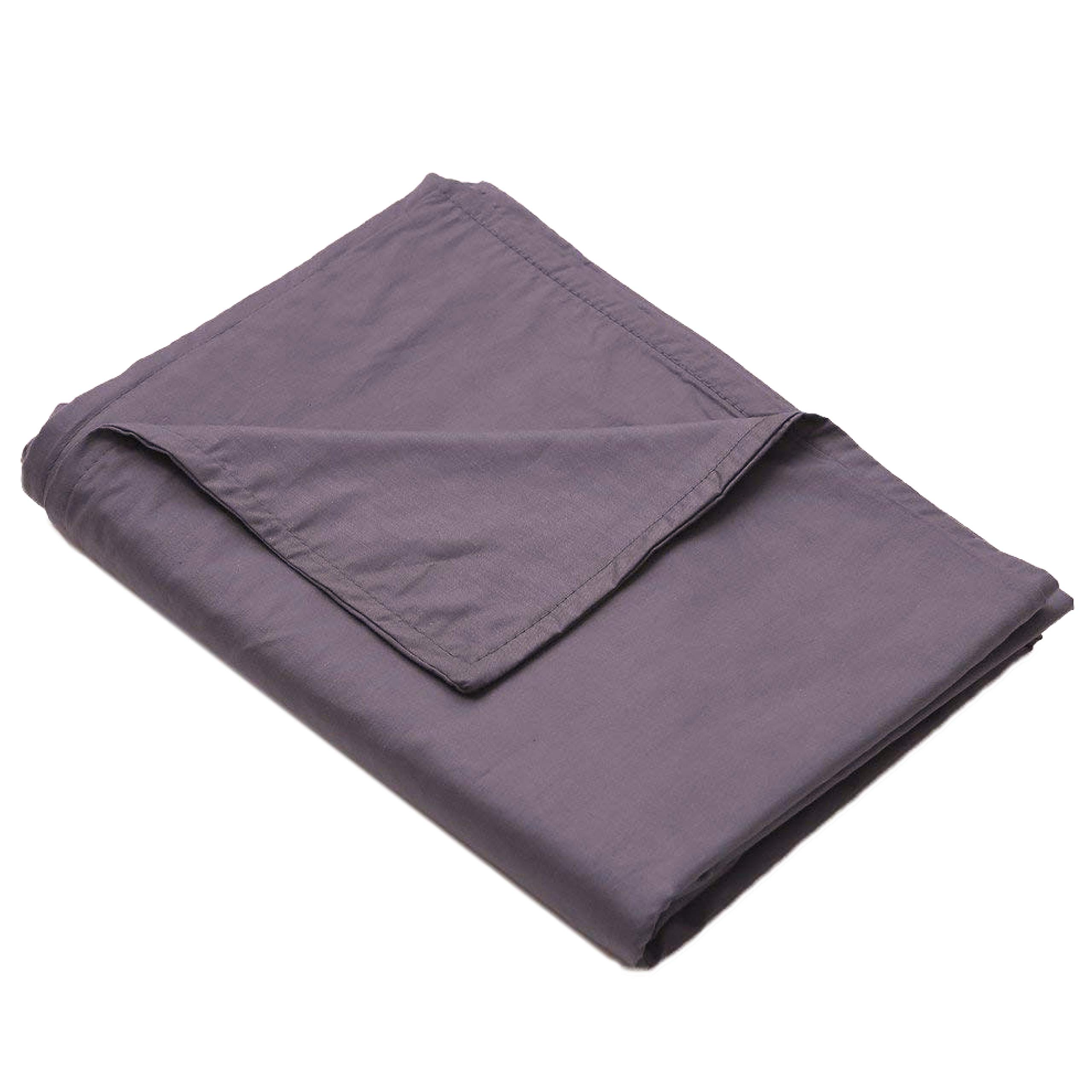Loving Snuggles Weighted Blanket Cover | Cooling Cotton Twin Size Tie Duvet to Pair with Heavy Gravity Comforter for Adults & Kids with Anxiety, Insomnia, Autism or Stress - 48x72 Inches