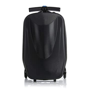 47e6dc3e5 Amazon.com | 20 inch Scooter Suitcase Ride-on Travel Trolley Luggage for  Travel, School and Business | Suitcases