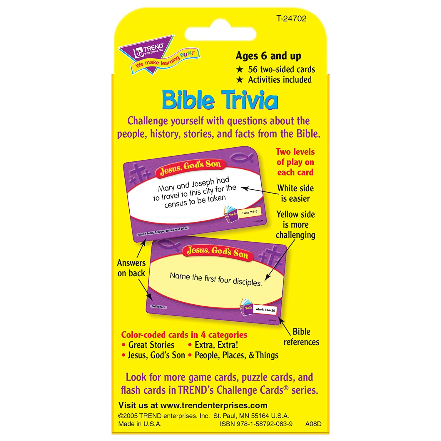 Bible Trivia For Kids Questions Quiz Game Children