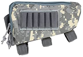 Rifle Stock Pack | Cheek Pad | Buttstock Ammo Holder | Zippered Utility Pouch