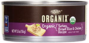 Organix, Organic Turkey, Brown Rice & Chicken, 5.5 oz, Canned Cat Food