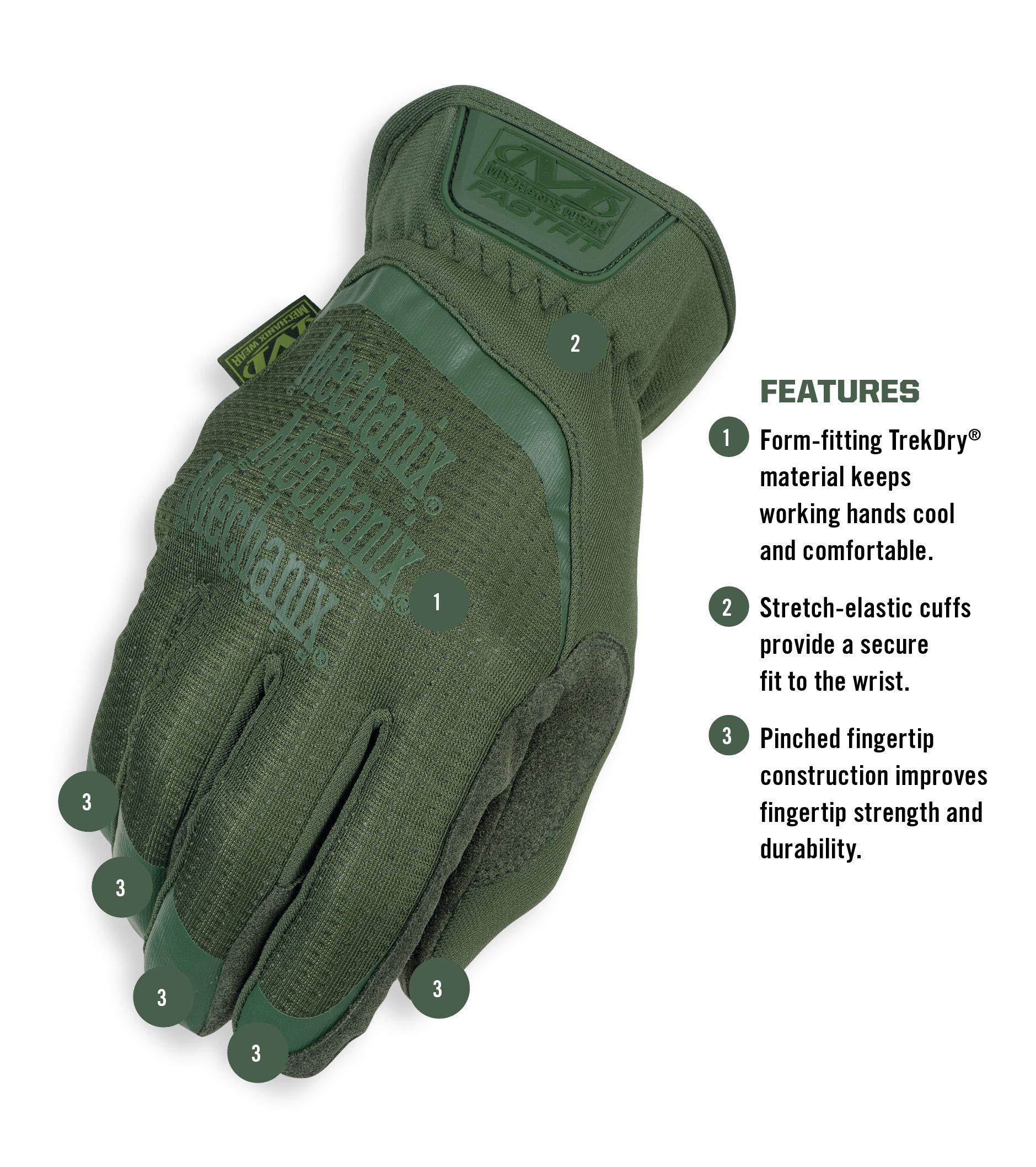 Mechanix Wear FFTAB-60-010 FastFit Large, Od Green by Mechanix Wear (Image #2)