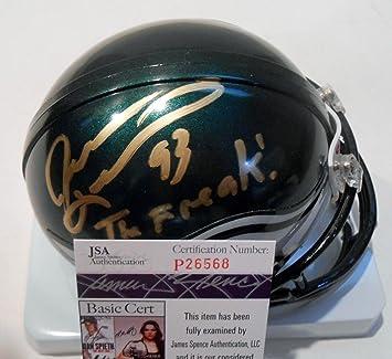 Amazon.com  Jevon Kearse Signed Mini Helmet - w COA P26568 - JSA Certified  - Autographed NFL Mini Helmets  Sports Collectibles d4f28b473