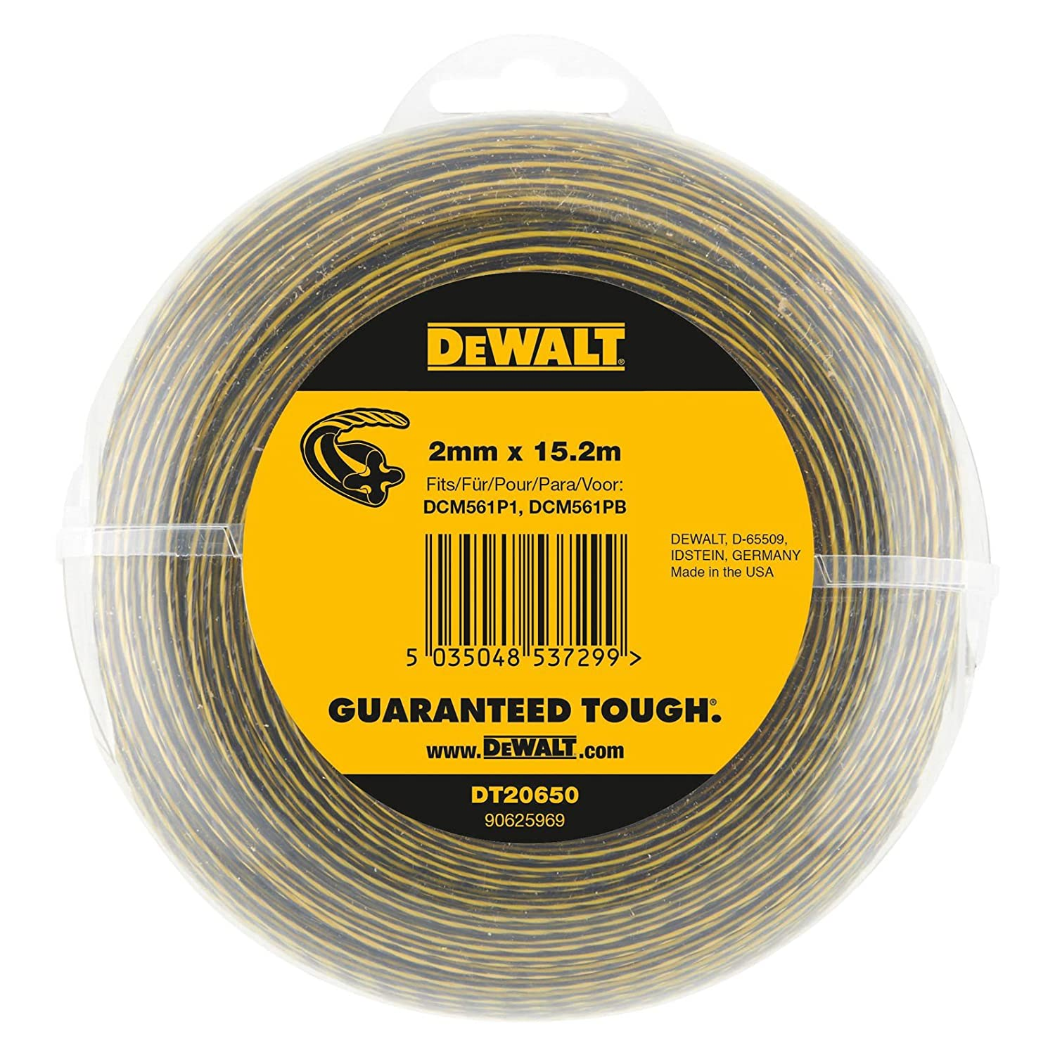 DeWalt DT20650-QZ Trimmer Thread, 15,2 m x 2,0 mm