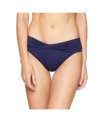0dd1f9e5ce Amazon.com  Tommy Bahama Womens Pearl High-Waist Twist Front Pant Bikini  Bottoms Mare Navy Size Small  Clothing