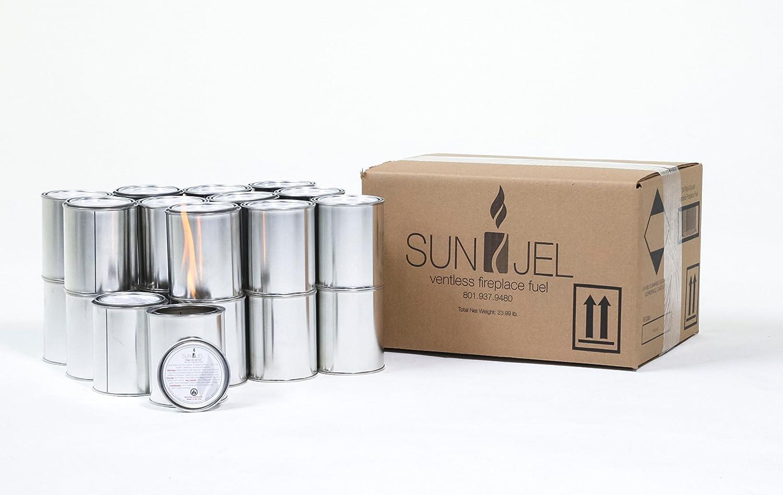 24-Pack SunJel Fume-free Firespace Gel Fuel Canister Pure Gel