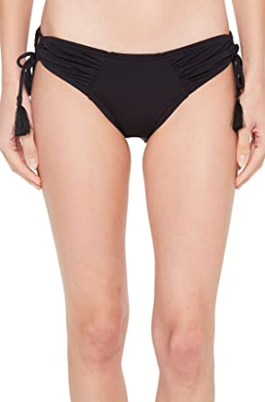 d5bb293807 Vince Camuto Women s Riviera Solids Side Tie Cheeky Bikini Bottom Black  Medium