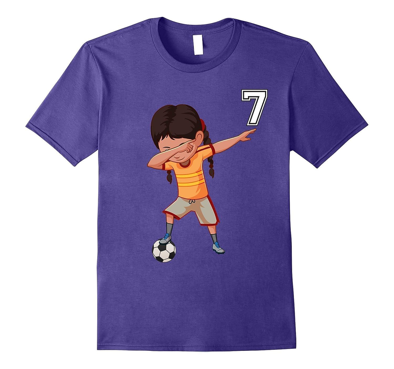 7 Soccer Shirt Girls Funny Dabbing Dab Dance Soccer Ball-TJ