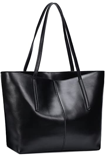 c0aafed101 Amazon.com  Covelin Women s Handbag Genuine Leather Tote Shoulder Bags Soft  Hot Black  Shoes