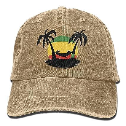 Miedhki Baseball Gorra Jamaica Rasta Flag Coconut Tree Men Women ...