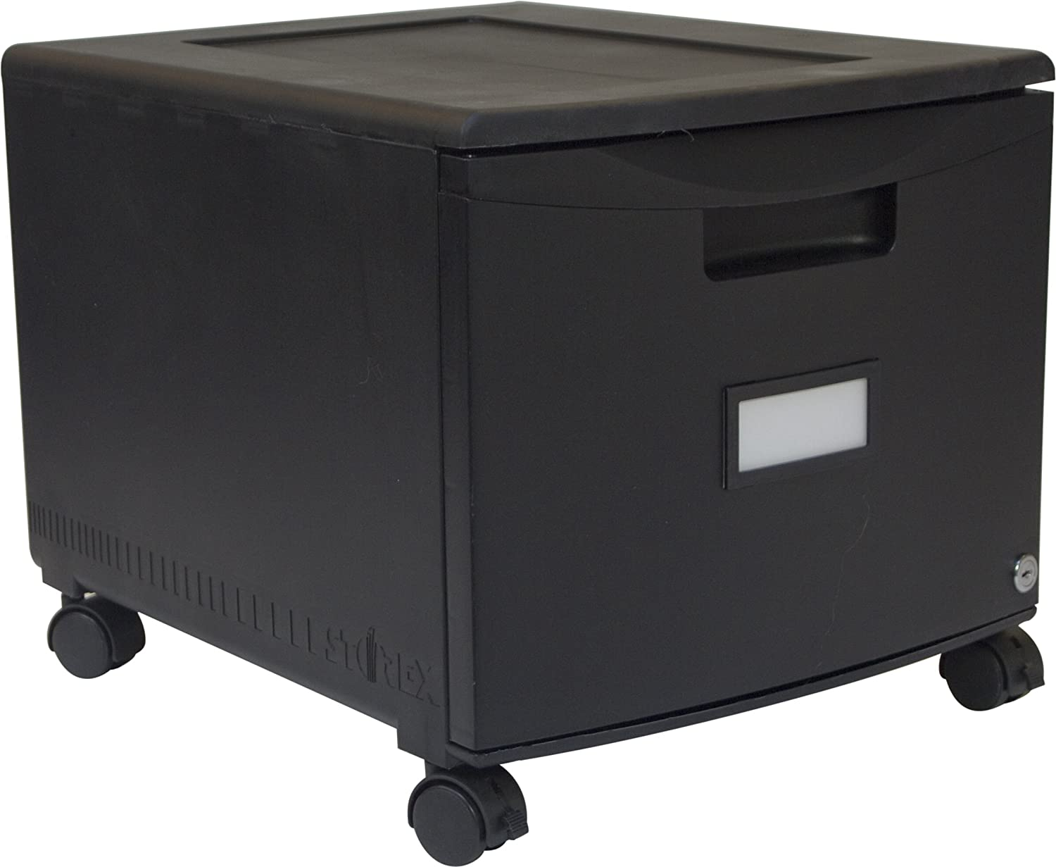 Awesome Amazon.com : Storex Single Drawer Mini File Cabinet With Lock And Casters,  18.25 X 14.75 X 12.75 Inches, Black (61264B01C) : Office Products