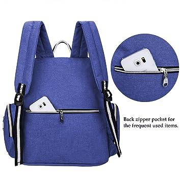 S-ZONE Multi-funciš®n Baby Pa?al Bolsa mochila con cambio de almohadilla y portš¢til de bolsillo aislado: Amazon.es: Equipaje