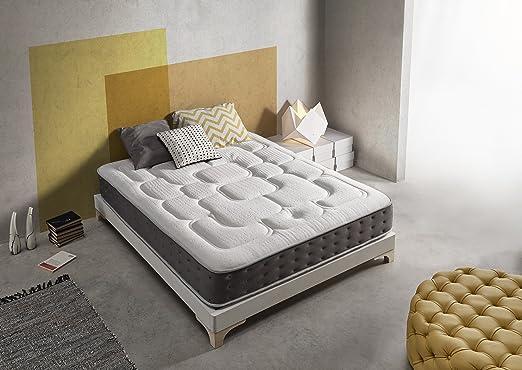 Living Sofa Gran COLCHÓN VISCOGRAFENO 135X180 SIMPUR Relax Royal ® | 30 CM Grosor | FIRMEZA Maximo Confort | Alta Gama | 100% Temperatura Optima para ...