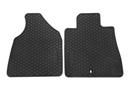 c84f4481d6 Image Unavailable. Image not available for. Color  General Motors GM  Accessories 22890387 Front All-Weather Floor Mats in Ebony with GMC Logo