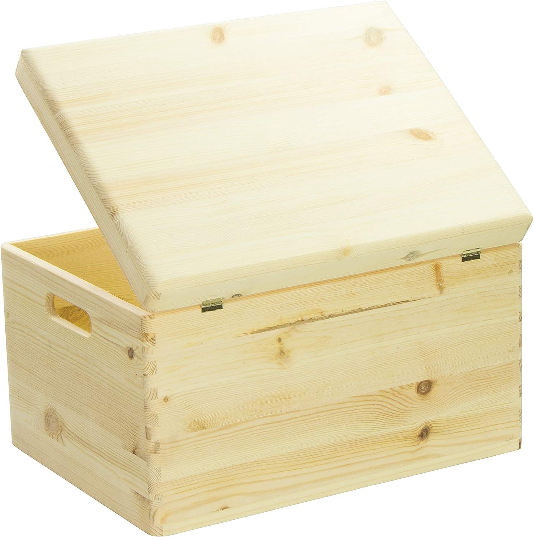 Hojas Lust – Caja de Madera para Guardar en Tamaño XL – Pino sin ...