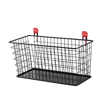 Rubbermaid Shed Accessories Large Wire Basket, Individual, Black
