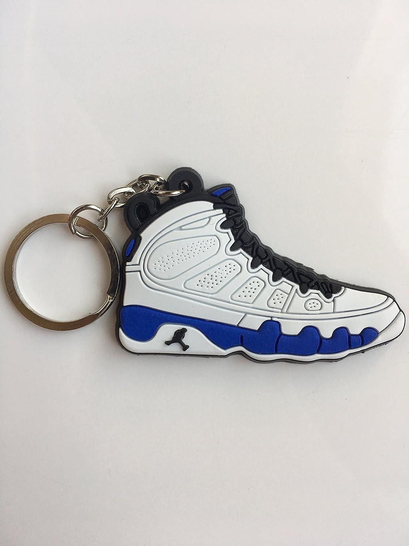 SneakerKeychainsNY Jordan Retro 9 Polvo Azul Zapatillas ...