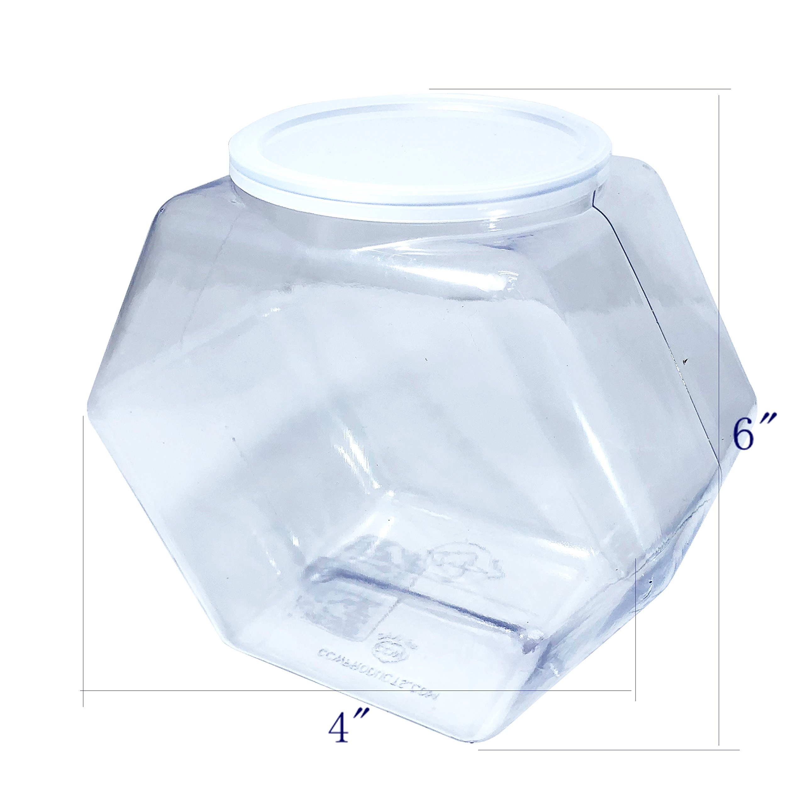 FixtureDisplays 80oz PVC Hexagons Jar - 20pk 106126!