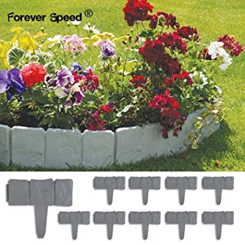 Forever Speed gazon Bordure de massif aspect pierre Gris 2,5M