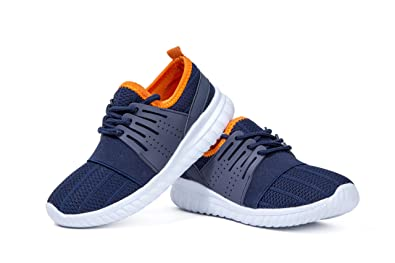 Kids Athletic Tennis Shoes - Little Kid Sneakers with Girl and Boy Sizes  Blue Orange 729a586e5