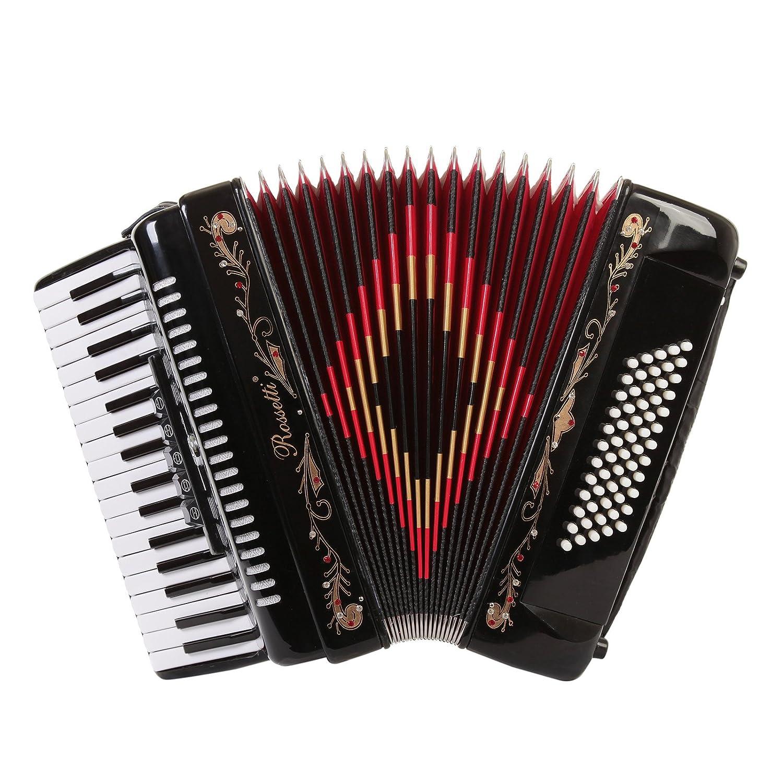Teclas de Piano acordeón 60 Rossetti Bass 34 5 interruptores ...