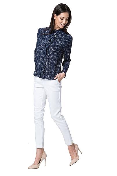 MOS Ladies Camisa de moda con blusa con volados blusa de manga larga blusa elegante para