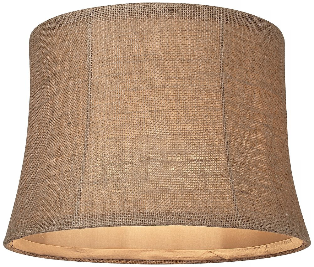 Natural burlap medium drum lamp shade 12x14x10 spider amazon audiocablefo