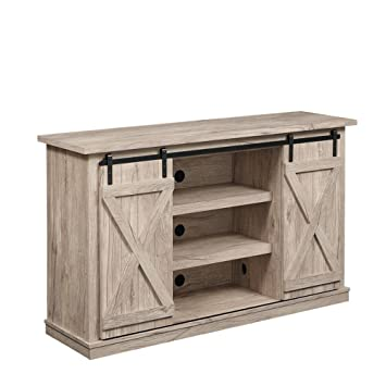 Amazon Com Industrial 54 Tv Stand Antique Rustic Look Sliding