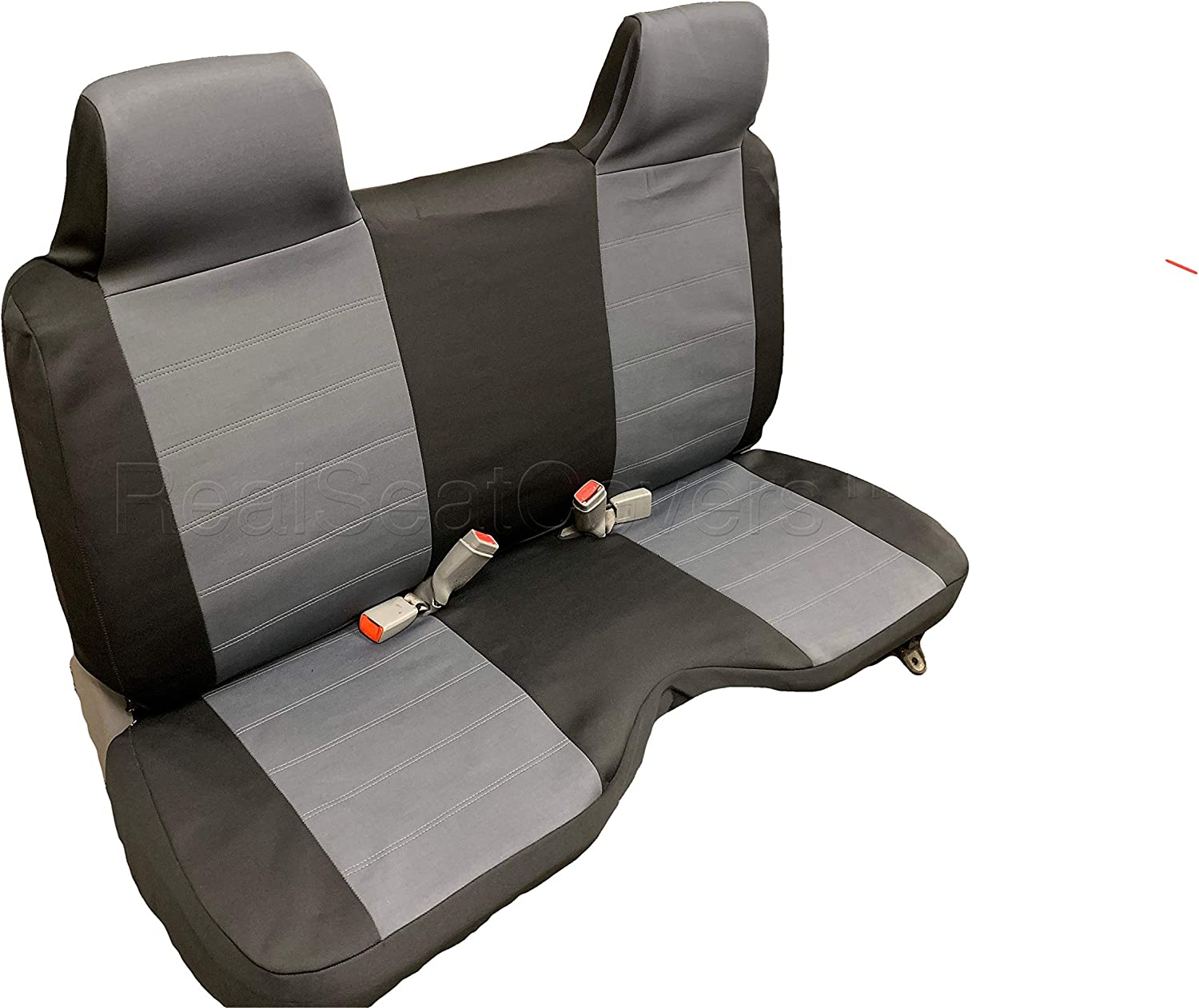 Gray, Grey RealSeatCovers for Front Bench Thick A25 Molded Headrest Small Notched Cushion Seat Cover for Toyota Pickup 1990-1995