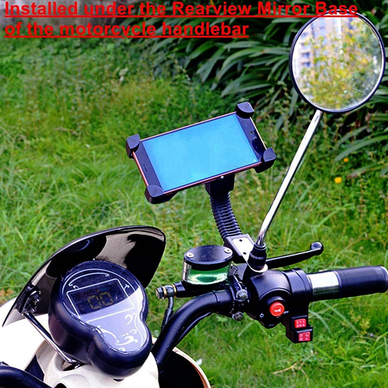 Soporte para tel/éfono m/óvil para Bicicletas y Motocicletas MR Goods Soporte de tel/éfono m/óvil para Bicicleta Montaje en el Manillar y Listo para Conducir