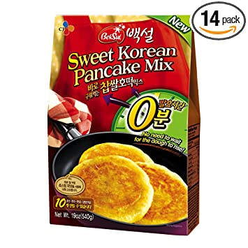 Amazon com : CJ Sweet Korean Pancake Mix, 19 04-Ounce Packages (Pack