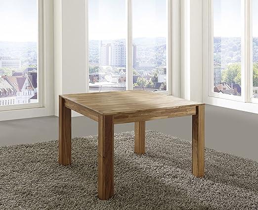 SAM® Mesa de comedor roble macizo 90 x 90 cm Elli: Amazon.es: Hogar