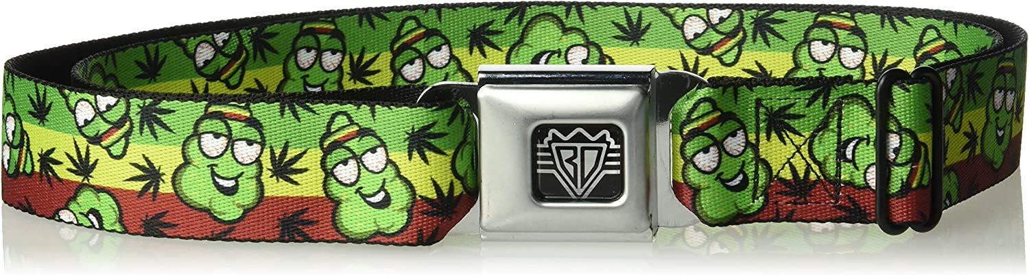 Buckle-Down unisex adults Buckle-down Seatbelt Weed Regular Belt 24-38 Inches US 1.5 Wide Multicolor
