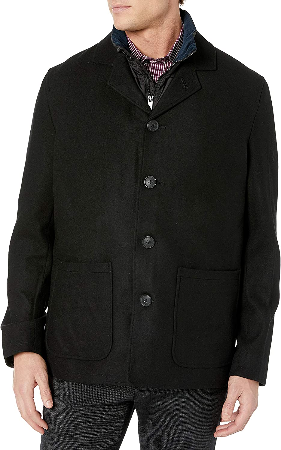 Nick Graham Mens Triboro 3 in 1 Wool Jacket with Vest
