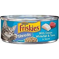 Purina Friskies Savory Shreds Whitefish & Tuna Wet Cat Food (24 Cans)