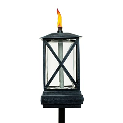 TIKI Brand 65-Inch Square Beacon Torch, Metal/Black : Garden & Outdoor