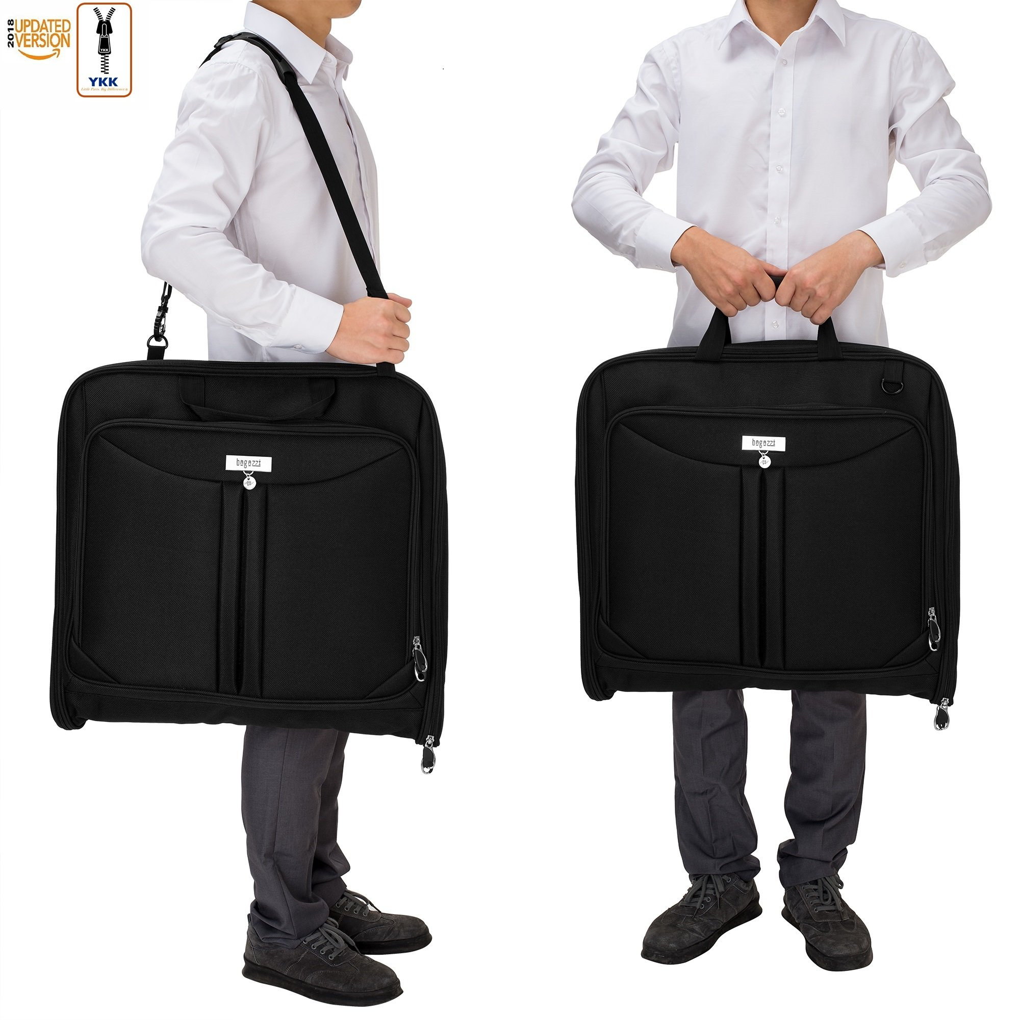 3 Suit Carry On Garment Bag for Travel & Business Trips With Shoulder Strap 40'' Bagazzi Brand by Bagazzi (Image #6)