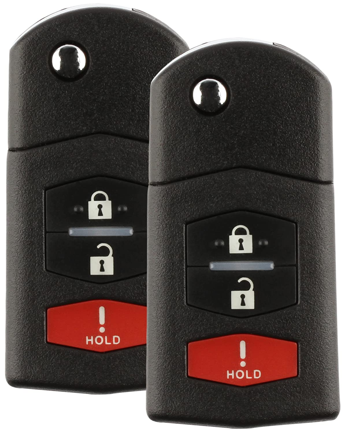 2 Pack Discount Keyless Car Remote Entry Replacement Uncut Ignition Flip Key Fob For Mazda CX-7 CX-9 SKE12501