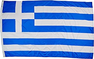 product image for Annin Flagmakers Model 193126 Greece Flag Nylon SolarGuard NYL-Glo, 5x8 ft, 100% Made in USA to Official United Nations Design Specifications