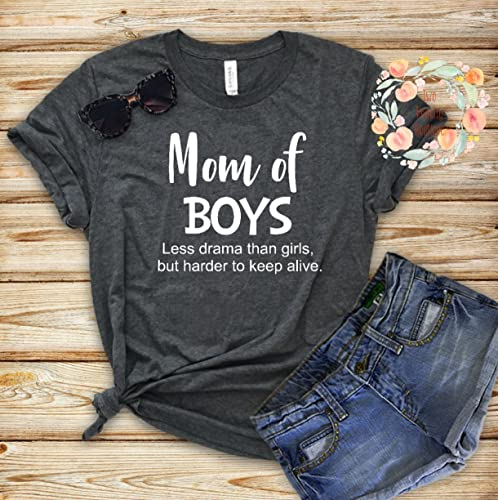 19f33b2b Amazon.com: Bella Canvas Unisex Mom of Boys shirt: Handmade