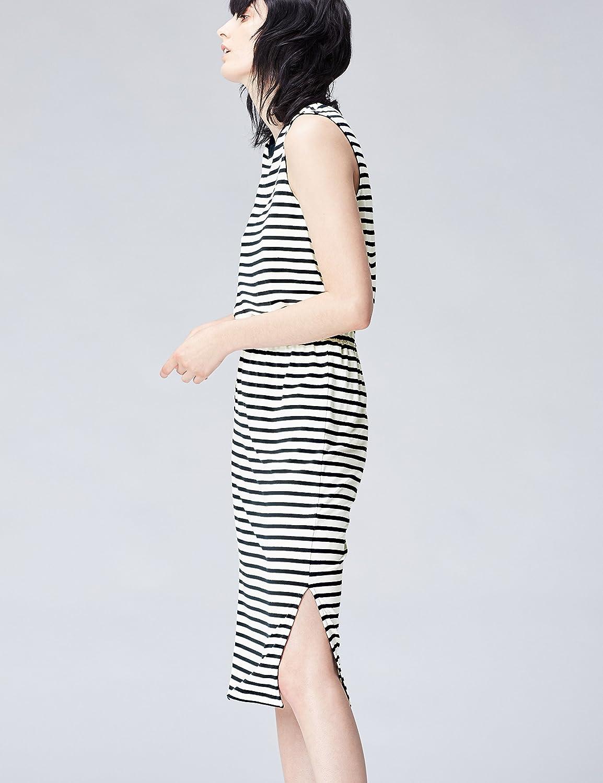 Marca Vestido Largo Medio sin Mangas con Cintura Fruncida para Mujer find