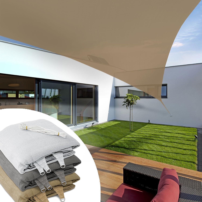 casa pura® Lona de toldo triangular para balcón, pérgola, jardín ...