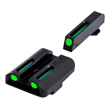Truglo brillante - sitio TFO pistola de la vista - TG131GT1, 9mm/.40/.357 and G38/39, Verde/Verde: Amazon.es: Deportes y aire libre